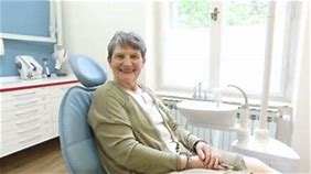 Senior adult in dental chair